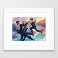 hunter x hunter Framed Art Prints featuring Hunter x Hunter: Eternal by akayashi