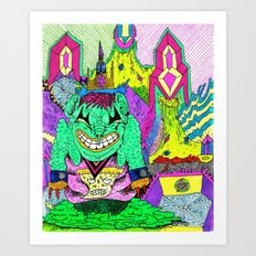 Sludge City Art Print