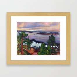 Train Smoke by Edvard Munch Framed Art Print
