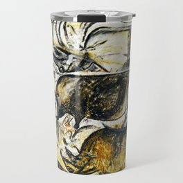 Panel of Rhinos // Chauvet Cave Travel Mug