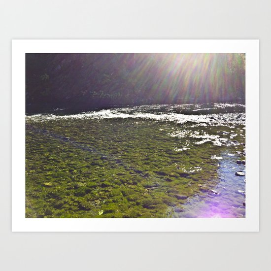 Rayshine River Art Print