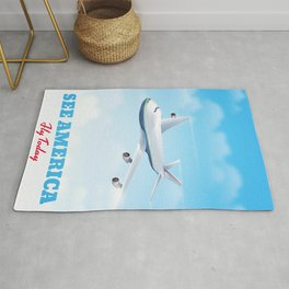 See America - Fly today! Poster Rug
