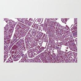 Brussels City Map II Rug