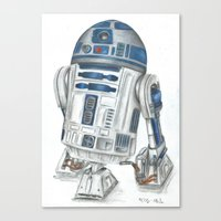 r2d2 Canvas Prints featuring R2d2 by Iron Teflon