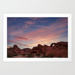 Arch Rock Sunset, Valley of Fire - I Art Print