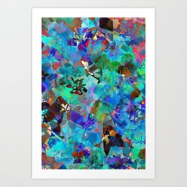 Hawaiian Jungle Batik Art Print