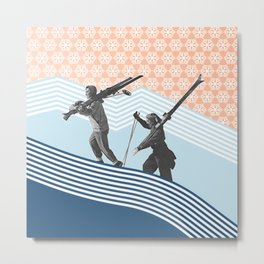 Finding the Perfect Line Metal Print
