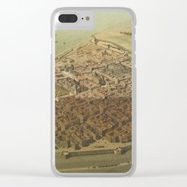 Vintage Pictorial Map of Veracruz Mexico (1869) Clear iPhone Case