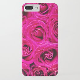 Romantic Pink Purple Roses Pattern iPhone Case