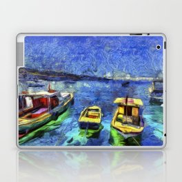 Boats and Sea Impressionist Art Laptop & iPad Skin
