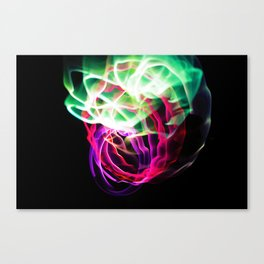Glowing Neon Lights (Color) Canvas Print