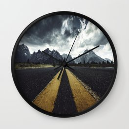 grand teton national park road Wall Clock