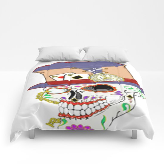 Steam Punk Sugar Skull Comforters