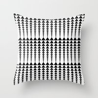 arrows Throw Pillows featuring Arrows by Elisabeth Fredriksson