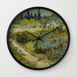 Vincent van Gogh - Garden at Arles (1888) Wall Clock
