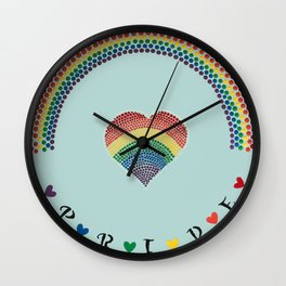 Rainbow Heart LGBTQ Pride Wall Clock