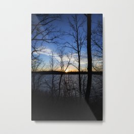 Sunset Over Lake 3 Metal Print