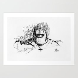 Warbot Sketch #017 Art Print