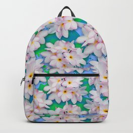 Plumeria Bouquet Exotic Summer Pattern Backpack