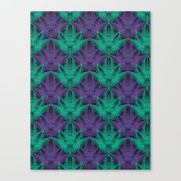 UV Jungle #society6 #ultraviolet #pattern Canvas Print