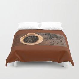Black Nigella Sativa dry seeds portion Duvet Cover