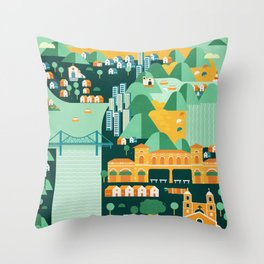 Floripa Brazil Throw Pillow