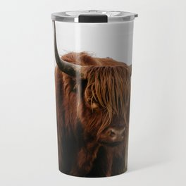 Highland Cow in nature | Wild Scottish Highlander, cattle in the Netherlands | Wild animals | Fine art travel and nature photography art print Travel Mug