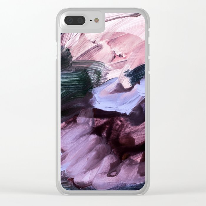 abstract painting VII Clear iPhone Case