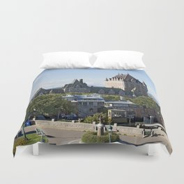 Old Quebec City featuring Château Frontenac Duvet Cover
