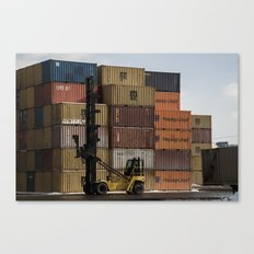 Pointe St. Charles Freight Moving Canvas Print
