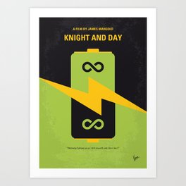 No899 My Knight and Day minimal movie poster Art Print