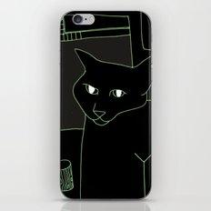 Neon Black Cat Shoulder Piece iPhone & iPod Skin