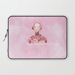 Isabella Bellarina Dancing on Pink Watercolour Laptop Sleeve