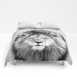 Lion 2 - Black & White Comforters
