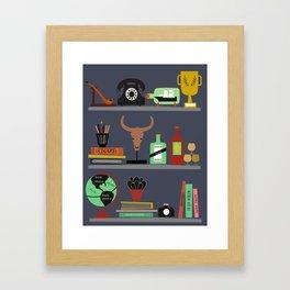 Mens shelf Framed Art Print
