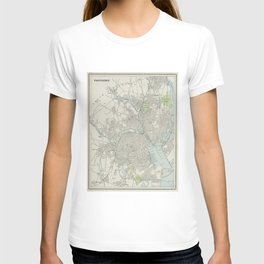Vintage Map of Providence Rhode Island (1901) T-shirt