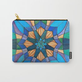 Leafy Mandala Carry-All Pouch