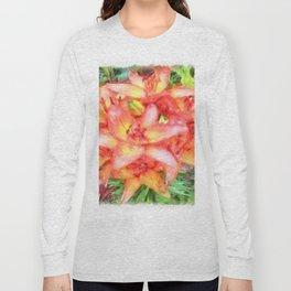 Helen's Lilies Watercolor Long Sleeve T-shirt