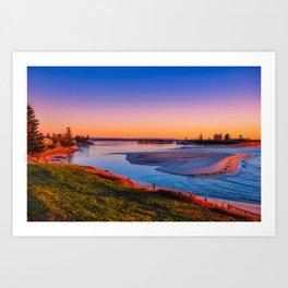 Sunrise on The Entrance Channel Art Print