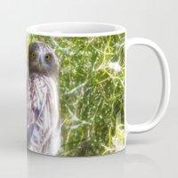 hawk Mugs featuring Hawk by Veronika