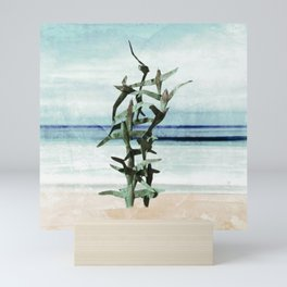 Flying Seagulls. Seascape Abstract Art Mini Art Print