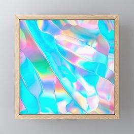 Blue Opal Iridescent  Framed Mini Art Print