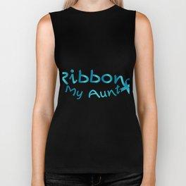 I Wear Teal For My Aunt Ovarian Cancer Awareness Biker Tank