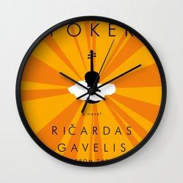 Vilnius Poker Wall Clock