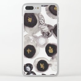 """""""Flowing Circles"""" - Karla Leigh Wood Clear iPhone Case"""