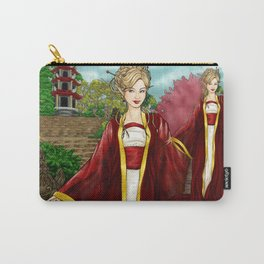 A Delicate Flower Grows In This Garden Carry-All Pouch