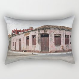 Trinidad Cuba Streets Old City Latin America Tropical Island Caribbean Sea Calle Casa Edificio Archi Rectangular Pillow