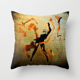 flame dancer Throw Pillow