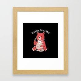 TV Shows, Sushi & Naps Framed Art Print