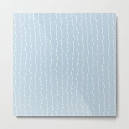 Willow Stripes - Ice Blue Metal Print